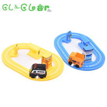 NEW 1pcs DIY Puzzle Toy Roller Coaster Track car Diecasts & Toy VehiclesToy Car Rail Car Toy gift for Children