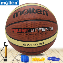 original molten basketball ball GW7X NEW Brand High Quality Genuine Molten PU Material Official Size7 Basketball free shipping(China)