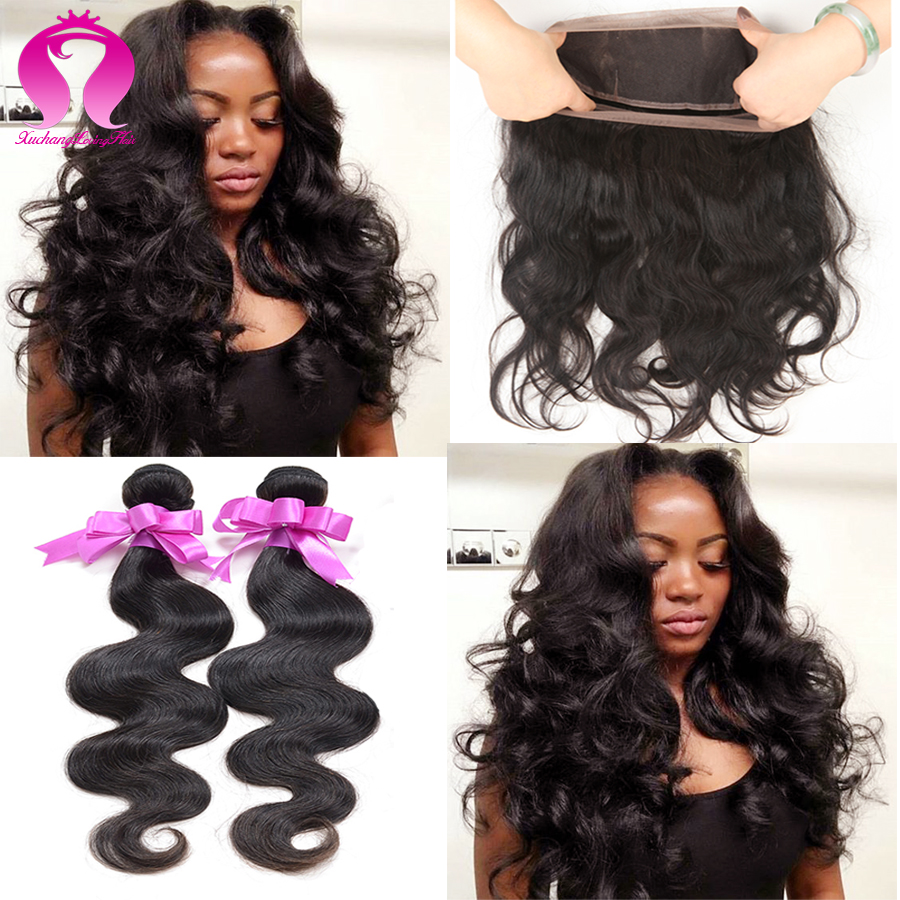 360 Lace Frontal Closure With Bundles 8a Mongolian Hair Body Wave 2 Bundles Hair Bundles With Lace Closures With Baby Hairs<br><br>Aliexpress