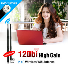 2.4GHz 12 dBi Wireless WLAN Antenna Aerial WLAN RP-SMA For Router Modem PCI Card