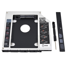 "Brand New Aluminum Universal SATA 3.0 2nd HDD Caddy 12.7mm 2.5"" Hard Disk Drive Enclosure SSD Case for Laptop DVD/CD-ROM Optibay"