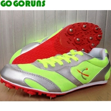 long race sprint outdoor ultralight breathable spikes running shoes women trainers sport track field sneakers  athletic shoes