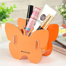 Storage Box Butterfly Makeup Organizer DIY Wood Container Jewelry Wood Trays Desktop For Storing Cosmetics Boxes