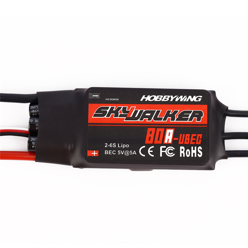 Original Hobbywing SkyWalker Brushless ESC 80A 2-6S Speed Controller For RC Multicopters Helicopters Quadcopter Airplane D30<br>