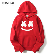 RUMEIAI 2017 Autumn winter New brand marshmello face Hoodies men Casual Hoodies Sweatshirt Sportswear Male Fleece Hooded Jacket(China)