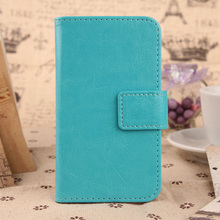 ABCTen Simple Style Cell Phone Case Pure Color PU Leather Cover For Medion Life S5004 MD 99722 5