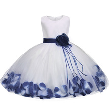 New Dress 2017 Tulle Gray Baby Flower Girl Wedding Dress Fluffy Ball Gown Birthday Evening Prom Clothing Tutu Party Dress(China)