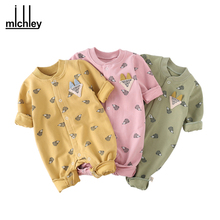 MICHLEY Baby Clothes Autumn Baby Boy Animal Clothing Newborn Baby Girl One Piece Jumpsuits Kid Children Breathable Rompers TH152