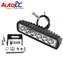 AutoEC 6 led 18W Work Light 6 inch Spot Flood Working Driving Offroad Boat External Light Bar Car Motorcycle 4x4 SUV ATV 10-60V