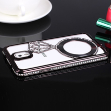JURCHEN Fashion Stars luxury Diamonds Plating Diamond Frame Cover Case For Samsung Galaxy Note3 Note 3 N9000 N9005 Cases