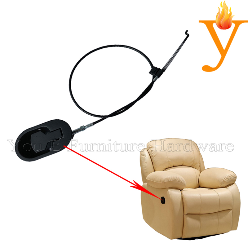 Furniture hardware manual chair mechanism cable hinge recliner chair hand control switch C09(China)