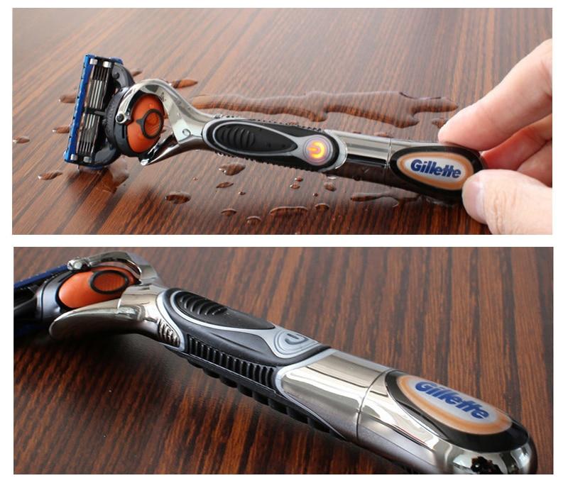 6 Gillette Fusion Proglide Flexball Power Razor Electric Shaving Razors Blades for men Safety Shave Men\'S Beard Shaver 1 Holder 5 Blade