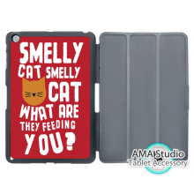 Friends TV Series Phoebe Smelly Cat Cover Case For Apple iPad Mini 1 2 3 4 Air Pro 9.7 Stand Folio Wake Up Sleep Function(China)