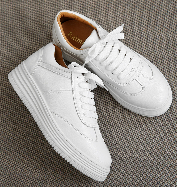 17 Women White Shoes Autumn Winter Soft Comfortable Casual Shoes Flats Platform Sneakers Real Leather Shoes Sapato Feminino 8