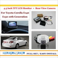 "For Toyota Corolla E140 E150 10th Generation - 4.3"" TFT LCD Monitor + Car Rearview Back Up Camera = 2 in 1 Car Parking System(China)"