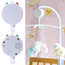 35 Song Rotary Baby Mobile Crib Bed Toy Clockwork Movement Music Baby Mobile Box with Animal Rattles  Cartoon Crib Baby Toys