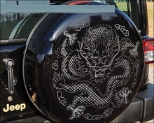 Customizable Dragon Totem Sticker Spare Wheel Car Styling Sticker Styling Exclusive Custom Models Car Modification
