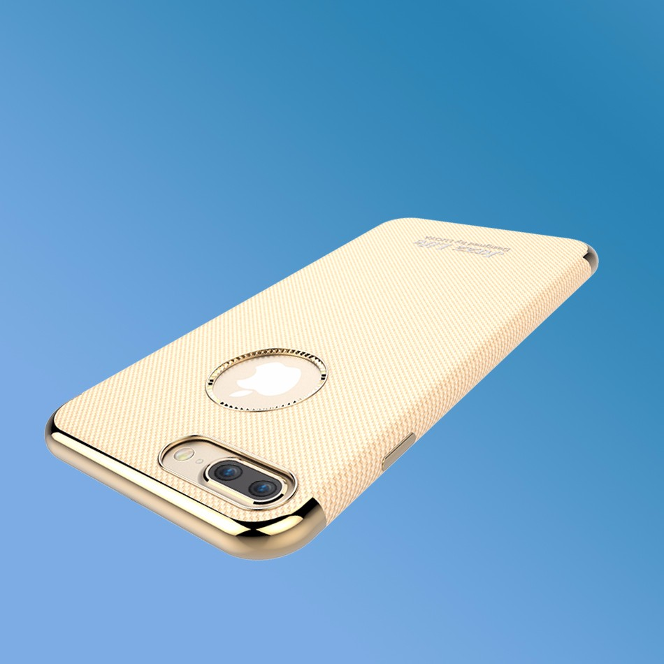 For iPhone7 phone case on iPhone7 iPhone7 plus TPU with PU stick soft gold plating case KOOLIFE Jazzlife