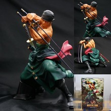 Wholesale/Retail Cool Decisive Battle Version One Piece Zoro Figure Toy PVC Action Figure Collection Model Toy Free Shipping