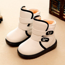 Winter Children'S Snow Boots Shoes Kids Girls/Boys Waterproof Warm Cotton Boots Plush Thicken Velvet Baby Boots Non-Slip Shoes(China)