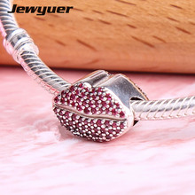 Buy New Valentine's Day Kiss charms 925 Sterling Silver fine jewelry fit beads Bracelets DIY gift love Jewyuer BE533 for $15.35 in AliExpress store