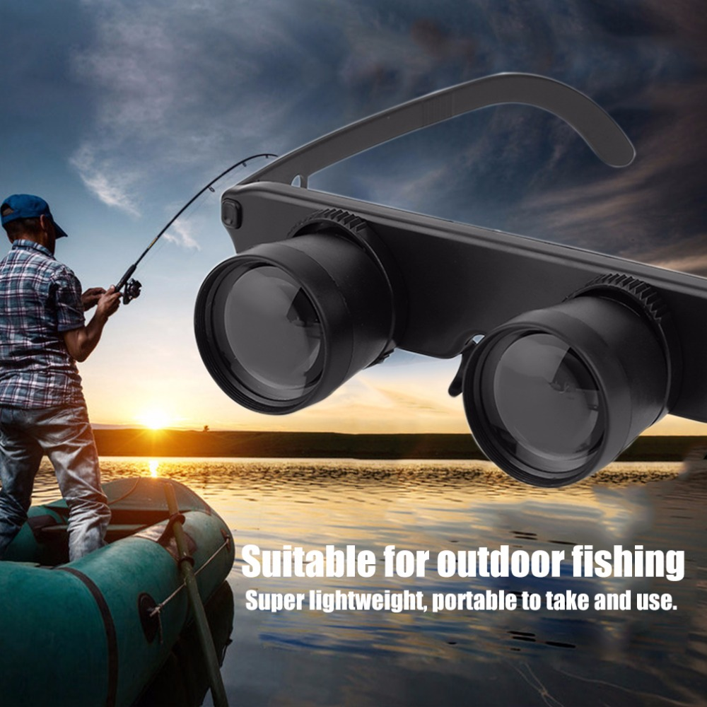 3X28 Double Eye Glasses Style Outdoor Fishing Binocular Optics Glasses Fishing Binocular Magnifier Measurement Tool Hot Sale