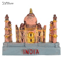 New 3D Resin Fridge Magnet India Taj Mahal Tourist Travel Souvenir Gift Decoration Resin Figurines Home Decoration Miniatures