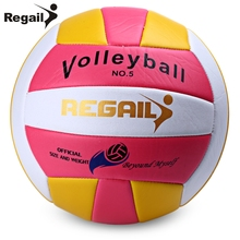 Official Size 5 Weight Volleyball Outdoor Indoor Training Competition Handball PU Leather Machine Stitch Volleyball  20.3-21.3CM