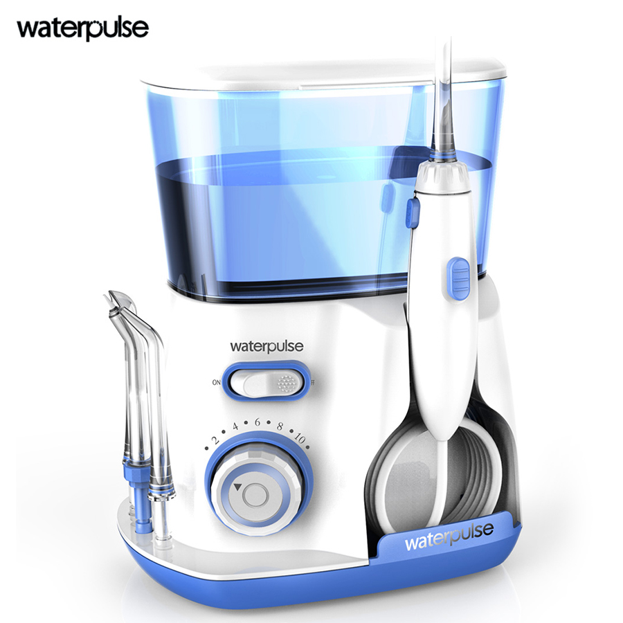 Waterpulse V300 Superior type oral irrigator Dental Water flosser 800ml water tank oral care removal of plaque and debris<br>