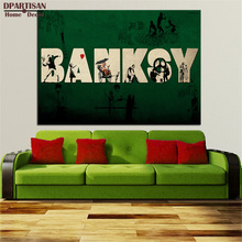 MODERN ABSTRACT HUGE WALL PAINTING ON CANVAS banksy artwork graffiti street art best SALES No FRAME Wall painting artsBA-78