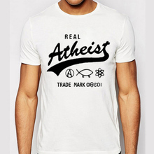 Atheist T Shirts Men Casual Short Sleeve T-Shirt O Neck Cotton Mens tshirt Letter Print Euro Size Man Tops Tees Free Shipping