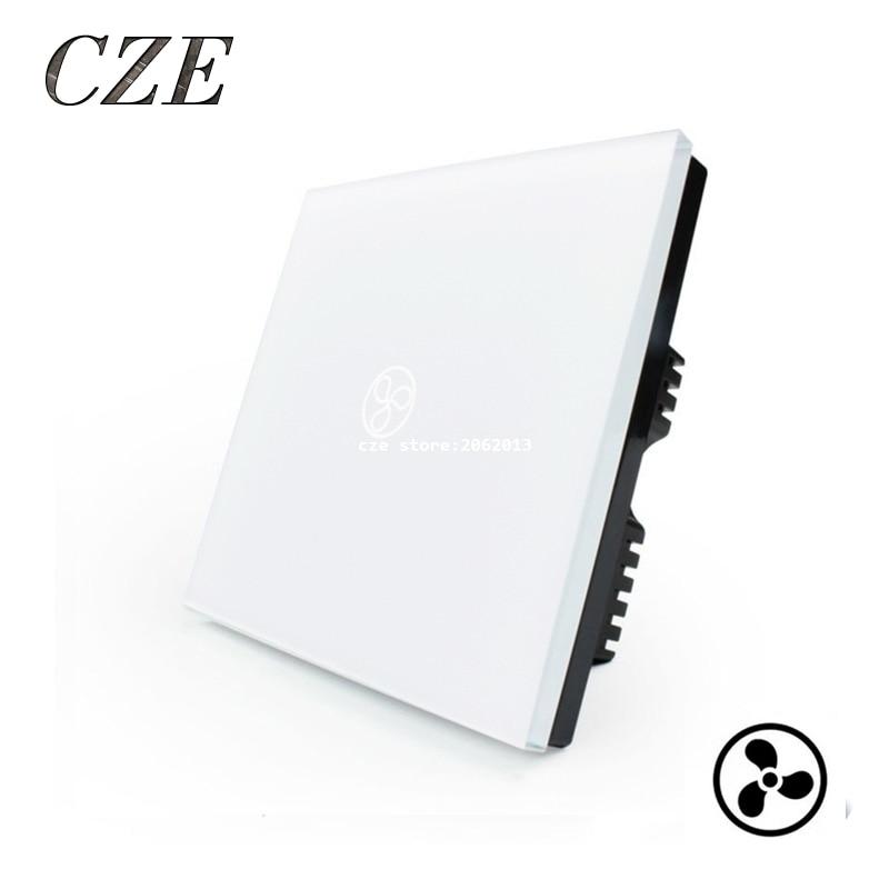 UK Standard 1 Gang Wall Fan Touch Switch Smart Home Automation Waterproof Switch 220v  Fan Controller<br><br>Aliexpress