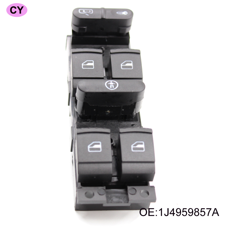 High Quality! Power Window Control Switch Button Console For Skoda Fabia Saloon Octavia Superb 1999 - 2010 1J4 959 857C 857A(China)