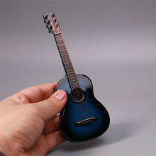 Estartek 1/6 Musical Instruments Model Blue Guitar for 12inch Phicen Jodoll Lovely Doll Uniquedoll Action Figure Sence DIY(China)