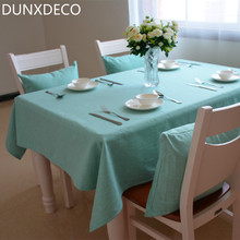 DUNXDECO Tablecloth Heavy Linen Blend Table Cover Fabric Solid Color Modern Home Store Party Mesa Decoration