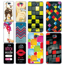 "New Rainbow Grid style Painted Cases for BQ Aquaris U / U Lite 5.0"" Soft Silicon Back Cover For BQ U Lite Coque + free gift"