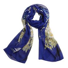 New Fashion Chiffon Soft Neck Scarf Women Luxury Brand Flower Printed Long Wrap Shawl Ladies Summer Stole Scarves Bandana #Zer