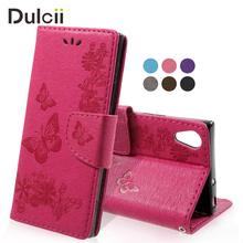 Buy DULCII Sony Xperia XA1 Phone Cases Imprinted Butterfly Flowers Leather Wallet Cover Sony Xperia XA1 Capa Coque for $3.51 in AliExpress store