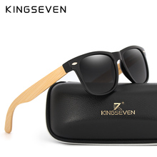 KINGSEVEN New fashion Bamboo Men Sunglasses Retro Vintage Women Wood sun glasses UV400 Eyewear Gafas De Sol Handmade With Case(China)