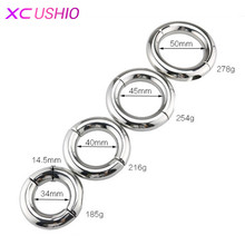 Buy Stainless Steel Penis Ring Ball Stretcher Delay Lasting Metal Cock Ring Scrotum Restraint Testicular Chastity Device Men