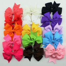15pcs/set grosgrain hair ribbon bow baby hairbow girl boutique bow with clips barrette children hair accessories(China)
