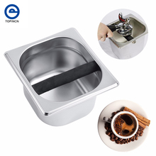 Stainless Steel Tool Accessory Coffee Knock Box Container Coffee Grounds container Coffee Bucket For Coffee Maker Machine(China)