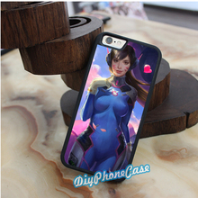 Overwatch D.Va 1 fashion original cell phone case cover for iphone 4 4S 5 5S se 5c 6 6 plus 6s 6s plus 7 7 plus #km529