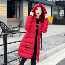 2017 new winter snow woman female Slim padded winter jackets and coats cold down cotton zipper jacket