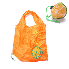 1pc Outdoor Orange Waterproof Folding Shopping Bag Eco Foldable Reusable Handbag(China)