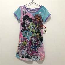 2017 Summer Monster Ella Princess Dress Kids Party Dress Girls Ever After High Monster Dress Girl Costume Pajamas Clothing