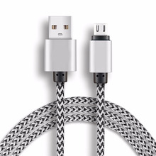 1M/20CM Micro usb Cable for Samsung galaxy HTC Xiaomi note MP3 Fast Charging Microusb 2a Nylon Mini USB Charger Cable