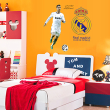 Football player Cristiano Ronaldo PVC Self Adhesive Vinyl Wall Stickers Bedroom Kid&baby room Home Decor Art Wall Decal Mural