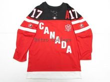throwback #17 CONNOR McDAVID Team Canada Hockey jersey OLYMPIC HOCKEY 100TH ANNIVERSARY Customize any size player name number(China)