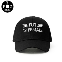 PLZ Design THE FUTURE IS FEMALE Baseball Cap Men Hiphop Letter Embroidery Hat Vintage Adjustable Customized Gift Hats For Women